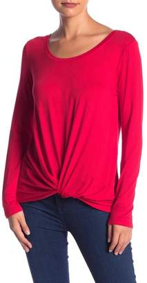 Socialite Long Sleeve Twist Front Top