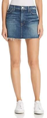 Hudson Vivid Cutoff Denim Mini Skirt in Fortune