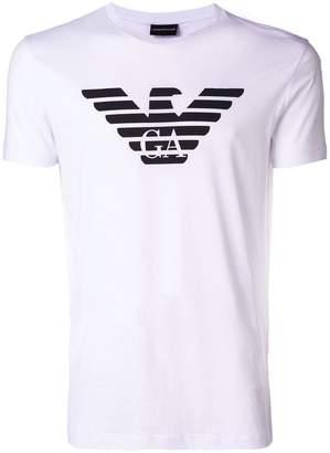 Emporio Armani printed logo shirt