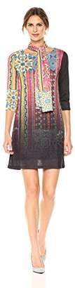 Desigual Women's Caly Woman Knitted 3/4 Sleeve Dress
