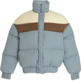 REJINA PYO Otis Color-Blocked Cropped Shell Puffer Jacket Size: S