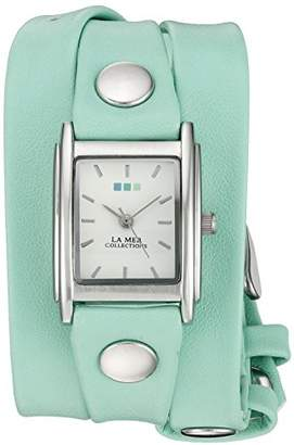 La Mer SPECIAL EDITION 001 Silver-Tone Bracelet Watch with Wraparound Strap