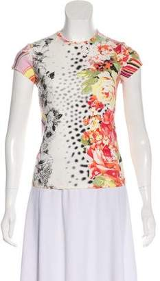 Just Cavalli Printed Crew Neck Top
