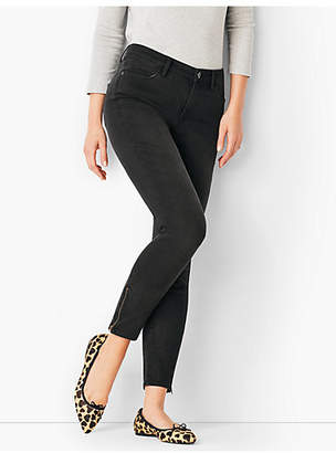 Talbots Comfort Stretch Zip Hem Denim Jeggings - Washed Black