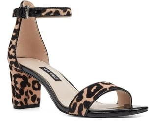 Nine West Pruce Genuine Calf Hair Ankle Strap Sandal