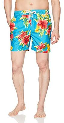 Kanu Surf Men's South Floral Quick Dry Beach Volley Swim Trunk