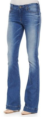 True Religion Charlize Faded Whiskered Flared Jeans $138 thestylecure.com