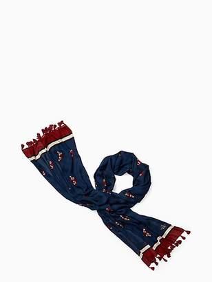 Kate Spade Fox glen oblong scarf