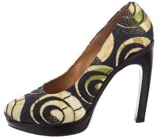 Dries Van Noten Printed Platform Pumps
