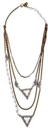 Lulu Frost Pearl, Faux Pearl & Crystal Layered Necklace