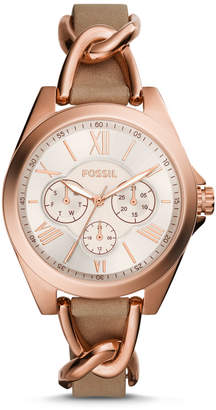 Fossil Modern Courier Multifunction Tan Leather Watch