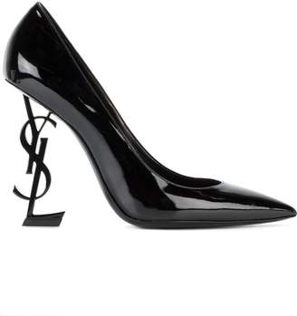 Saint Laurent Black Opyum 110 Patent Leather Pumps