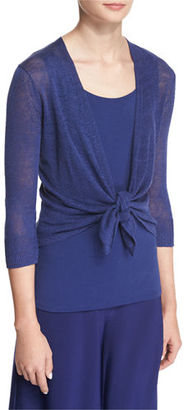 NIC+ZOE 4-Way Linen-Blend Knit Cardigan, Abyss $98 thestylecure.com