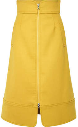 Sea Crepe Midi Skirt - Mustard
