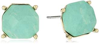 Vince Camuto Faceted Gem Aqua Stud Earrings