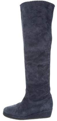 Michele Negri Suede Over-The-Knee Boots