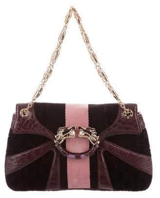 Gucci Crocodile & Velvet Dragon Series Bag