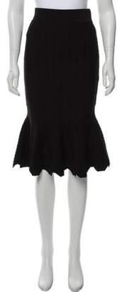 Jonathan Simkhai Flared Knee-Length Skirt Black Flared Knee-Length Skirt