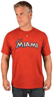 Majestic Men's Miami Marlins Official Wordmark Tee