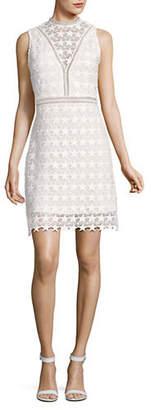 Sam Edelman Star Lace High Neck Sheath Dress