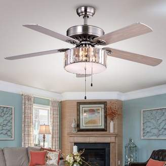 """House of Hampton 52"""" Dixie Crystal 3-Light 5 Blade Ceiling Fan Accessories: Pull Chains"""