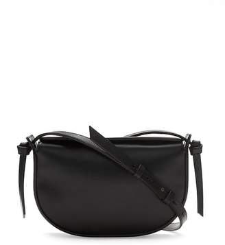 Banana Republic Italian Leather Structured Half-Moon Crossbody