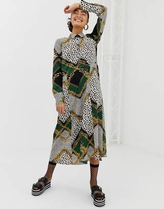 a5904ce5e57 Midi Scarf Print Dress - ShopStyle UK