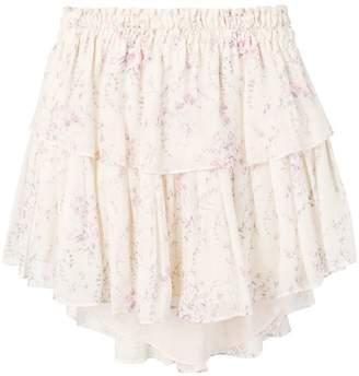 LoveShackFancy Love Shack Fancy ruffled mini skirt