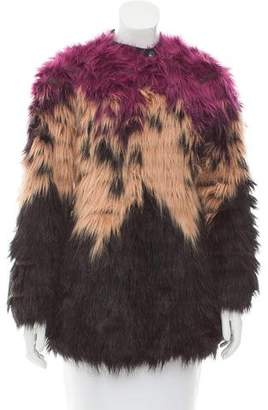 Diesel Short Faux Fur Coat w/ Tags
