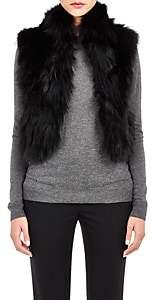 Barneys New York Women's Patchwork Fur Vest - Black