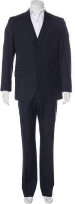 Alexander McQueen Wool Three-Piece Suit navy Wool Three-Piece Suit