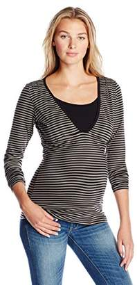 Ripe Maternity Women's Maternity Penny Stripe Feeding Top