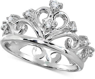 Giani Bernini Cubic Zirconia Stackable Tiara Ring in Sterling Silver, Created for Macy's