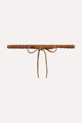 Isabel Marant Darla Braided Leather Waist Belt - Tan