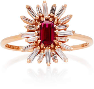 Suzanne Kalan One-of-a-Kind 18K Rose Gold Ruby and Diamond Ring