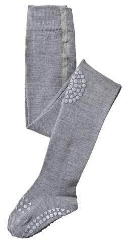 GoBabyGo Grey Melange Non-Slip Wool Tights