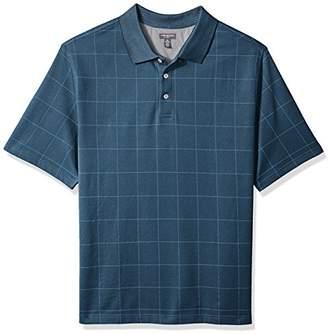 Van Heusen Men's Big and Tall Printed Windowpane Polo Shirt