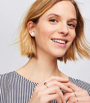 LOFT Shell Floral Stud Earrings