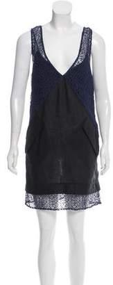 Rachel Comey Lace-Accented Linen Dress w/ Tags