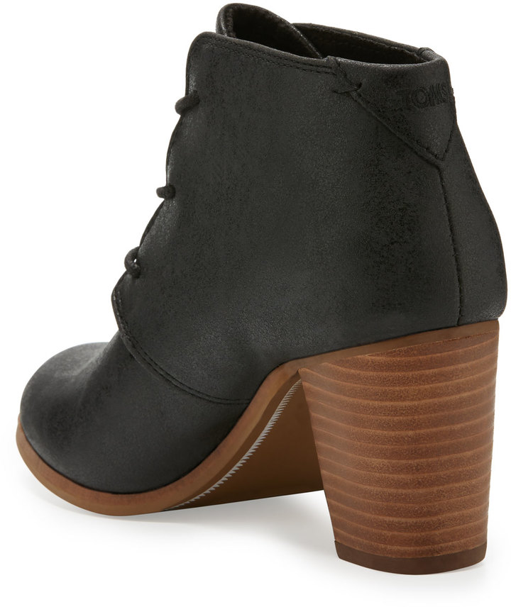 TOMS Lunata Faux-Leather Ankle Boot, Black 3