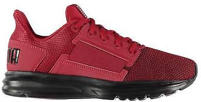 Kids Boys Enzo Street Trainers Junior Runners Lace Up Padded Ankle Collar