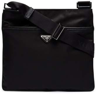 Prada zip pocket messenger bag