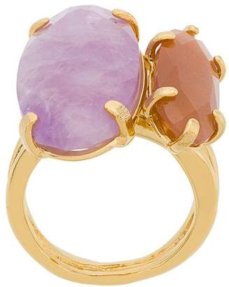 Wouters & Hendrix Technofossils amethyst and sunstone ring