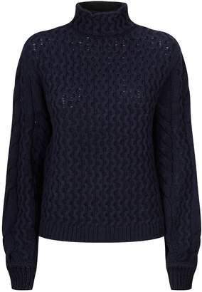 Victoria Beckham Victoria Textured Knit Turtleneck Sweater