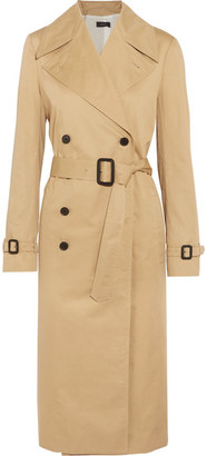Joseph - Townie Double-breasted Cotton Trench Coat - Beige $995 thestylecure.com