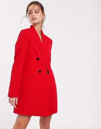 Stradivarius 2 in 1 blazer dress in red