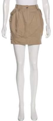 Dolce & Gabbana Cargo Mini Skirt Khaki Cargo Mini Skirt