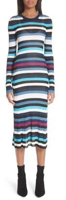 Altuzarra Stills Stripe Rib Knit Dress