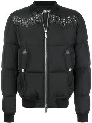 DSQUARED2 padded zipped jacket