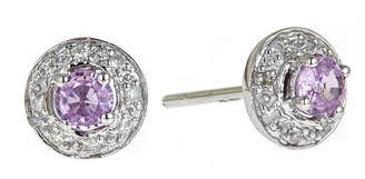 JCPenney FINE JEWELRY LIMITED QUANTITIES Genuine Pink Sapphire and Diamond-Accent Earrings